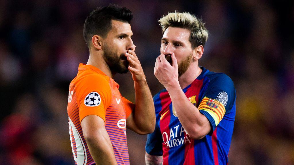 Diundang Messi Gabung Barcelona, Ini Jawaban Aguero