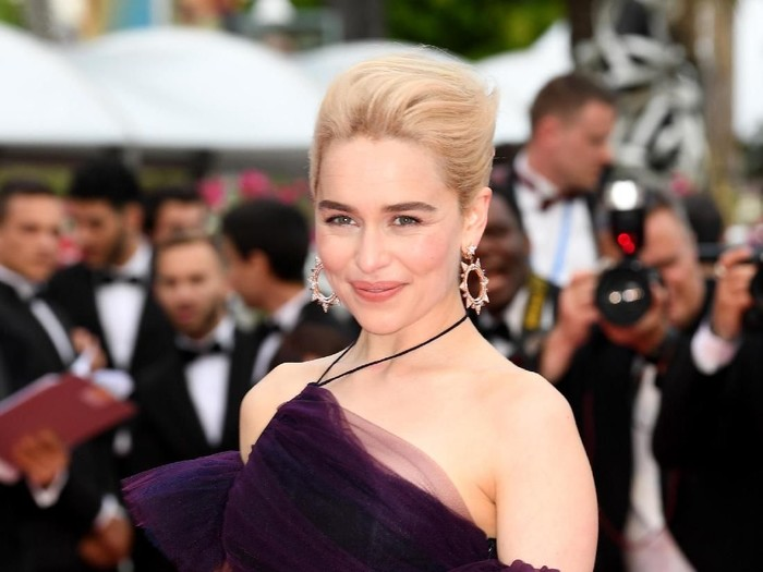 CANNES, FRANCE - MAY 15:  Emilia Clarke attends the screening of Solo: A Star Wars Story during the 71st annual Cannes Film Festival at Palais des Festivals on May 15, 2018 in Cannes, France.  (Photo by Nicholas Hunt/Getty Images)