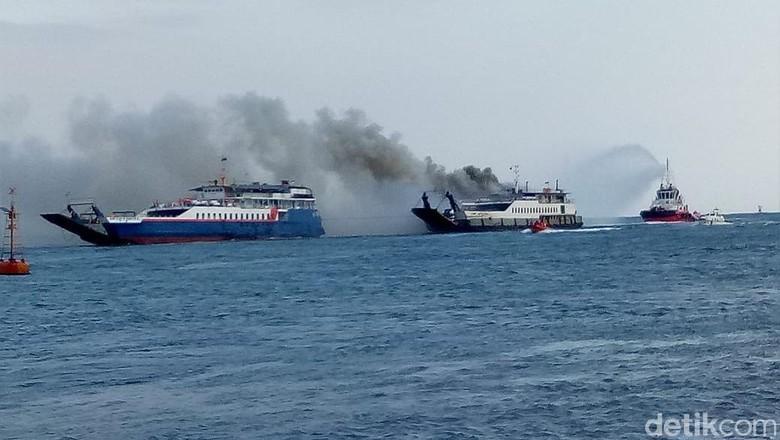 Kapal Penumpang dari Bali Tujuan Banyuwangi Terbakar