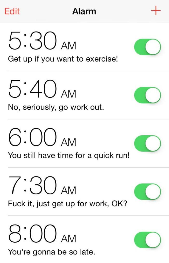 Pertama, tentu karena bangun pagi itu susah banget. Niat bangun jam 5.30 untuk lari pagi, nyatanya baru bangun jam 8 dan terlambat kerja! (Foto: internet)