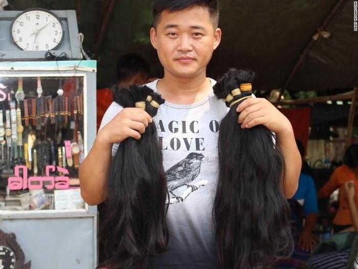 Rambut yang sehat dan indah bisa dijual di Myanmar. (Foto: CNN)
