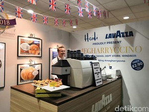 Menyeruput Megharryccino, Cappuccino Berwajah Meghan-Harry di Windsor