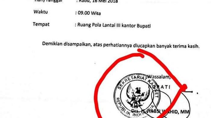 Viral undangan rapat berstempel Sekretariat Kabinet RI. (istimewa)