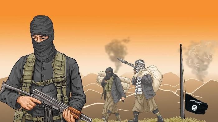 ilustrasi anak ISIS