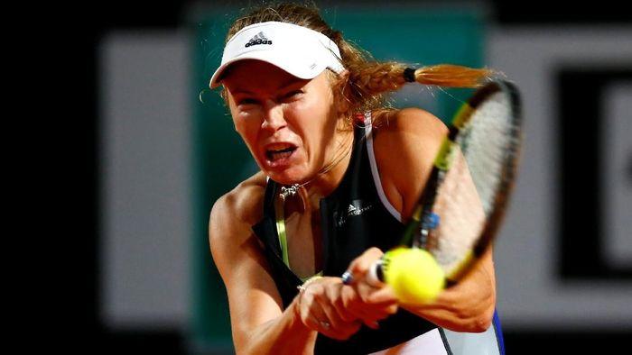 Caroline Wozniacki mengalahkan Anastasija Sevastova untuk maju ke perempatfinal Italia Terbuka (Foto: Tony Gentile/Reuters)