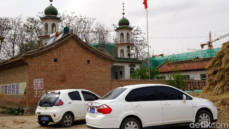 Masjid berusia 100 tahun di Provinsi Gansu, China (Wahyu/detikTravel)