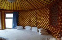 Tempat tidur dalam Ger (Wahyu/detikTravel)