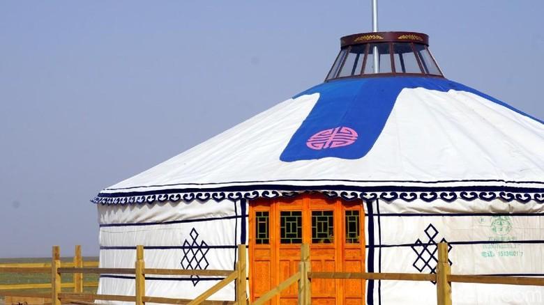 Foto: Ger, rumah tradisional bangsa Mongol (Wahyu/detikTravel)