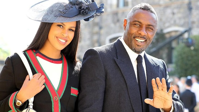 Idris Elba and Sabrina Dhowre arrives at St Georges Chapel at Windsor Castle for the wedding of Meghan Markle and Prince Harry.  Saturday May 19, 2018. Gareth Fuller/Pool via REUTERS