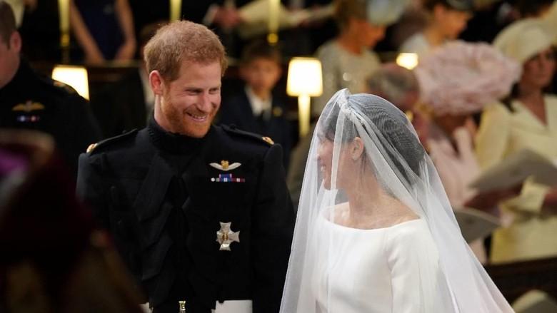 Pernikahan Pangeran Harry dan Meghan Markle di Kastil Windsor (Jonathan Brady/Pool via Reuters)