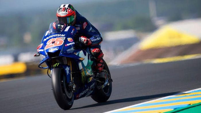 Maverick Vinales menguasai latihan ketiga MotoGP Prancis 2018 (Foto: Mirco Lazzari gp/Getty Images)