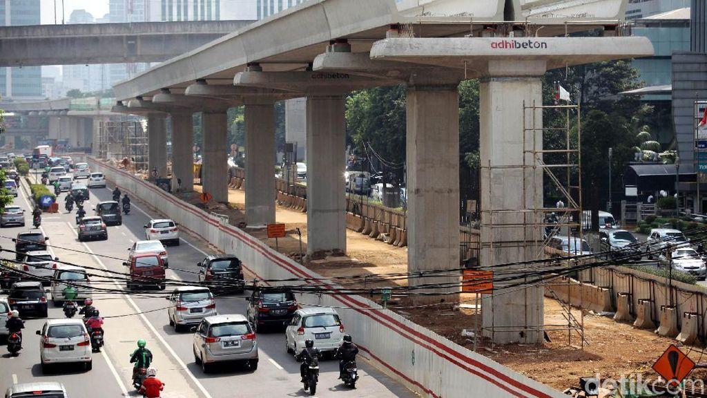 Mengintip Perkembangan Proyek LRT Jabodebek