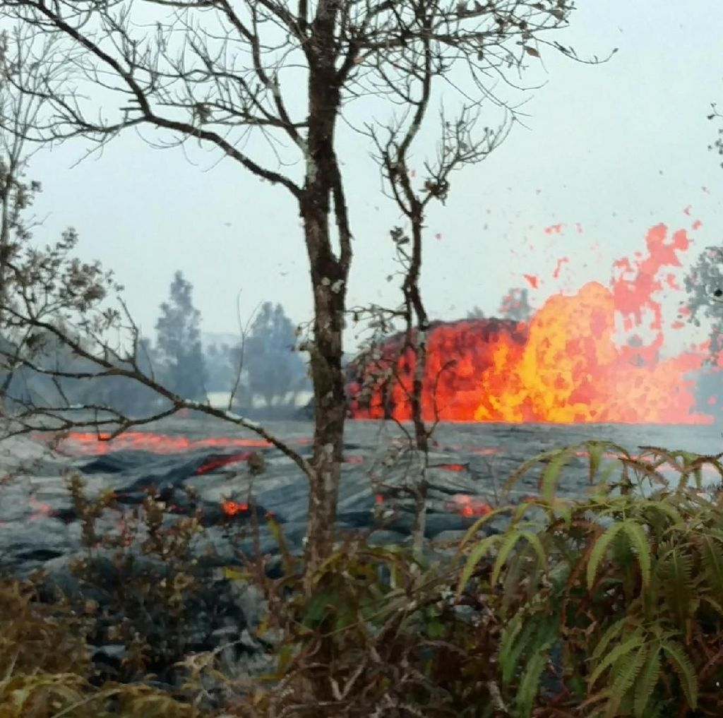 Melihat Sebaran Lava Gunung Kilauea dari Mata Langit