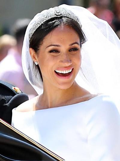 Meghan Markle di hari pernikahannya. (Foto: Getty Images)