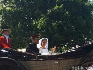 Detik-detik Pangeran Harry-Meghan Sapa Warga Usai Menikah