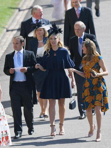 Chelsy Davy di pernikahan Pangeran Harry dan Meghan Markle pada Mei lalu.