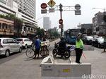 3 Simpang di Mampang Ditutup Secara Bertahap Pakai Traffic Cone