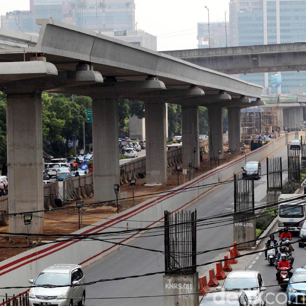 Pekerjaan LRT Jabodebek Mangkrak di Setiabudi, Ada Apa?