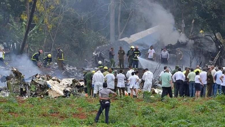Lebih dari 100 Orang Tewas dalam Kecelakaan Pesawat di Havana