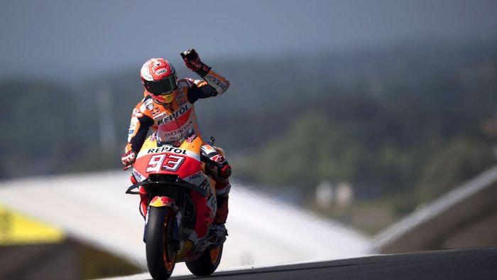 Marc Marquez menangi MotoGP Prancis 2018 (Mirco Lazzari gp/Getty Images)