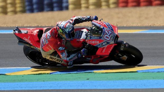 Andrea Dovizioso sejatinya punya kecepatan yang bagus di MotoGP Prancis namun mengalami kecelakaan di awal lomba.