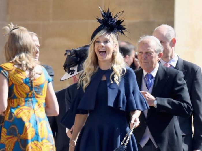 Mantan kekasih Pangeran Harry, Chelsea Davy datang ke Royal Wedding. Foto: Chris Jackson/Getty Images