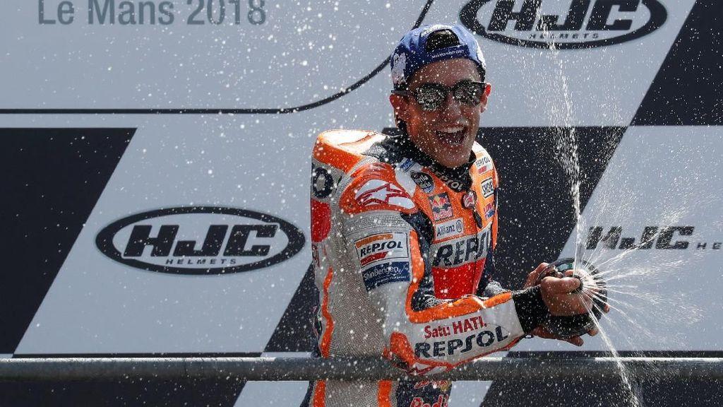 Marquez Menangi MotoGP Prancis 2018 karena Ngotot Sejak Awal