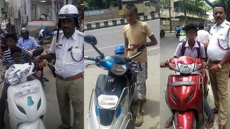 Anak 16 tahun di India boleh bawa motor. Foto: Drivespark