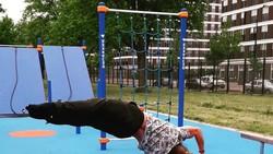 Human flag adalah gerakan olahraga kalistenik yang populer. Untuk bisa melakukannya dibutuhkan kekuatan otot tangan dan tubuh bagian atas yang prima.