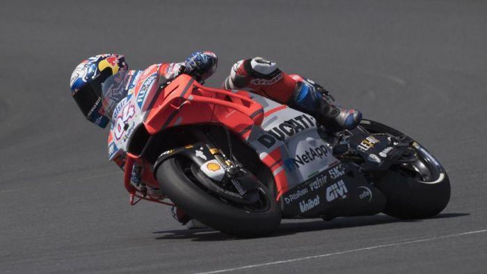 Rider Ducati, Andrea Dovozioso, di MotoGP Prancis 2018. (Foto: Mirco Lazzari gp/Getty Images)