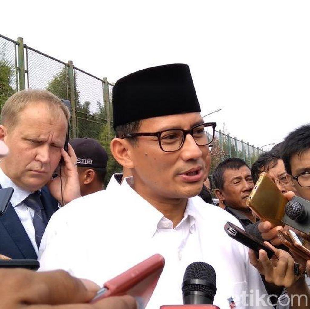 Sandi Batalkan Tarawih di Monas Usai Diskusi ke MUI dan Ormas Islam