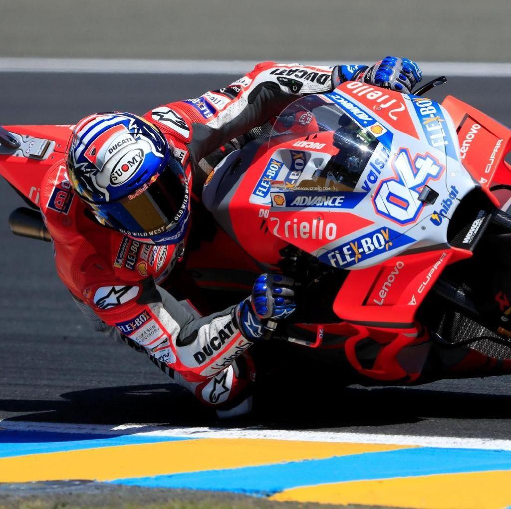 Dovizioso Tercepat di Latihan Ketiga MotoGP Catalunya, Marquez Terjatuh