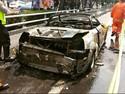 Ini Kondisi Mobil Sport yang Terbakar di Tol Slipi, Sisa Kap Depan