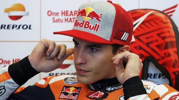 Marc Marquez selalu kalah dari pebalap tim Ducati dalam tiga balapan di putaran kedua MotoGP 2018.