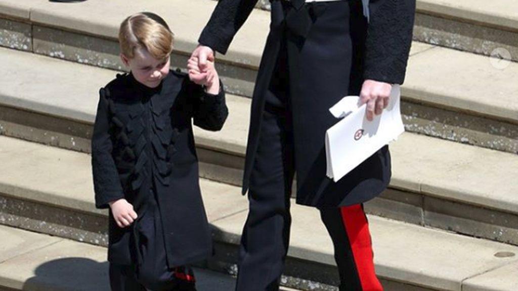 Pertama Kalinya Pangeran George Pakai Celana Panjang di Royal Wedding 2018