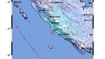 Gempa 5,4 SR Guncang Bengkulu