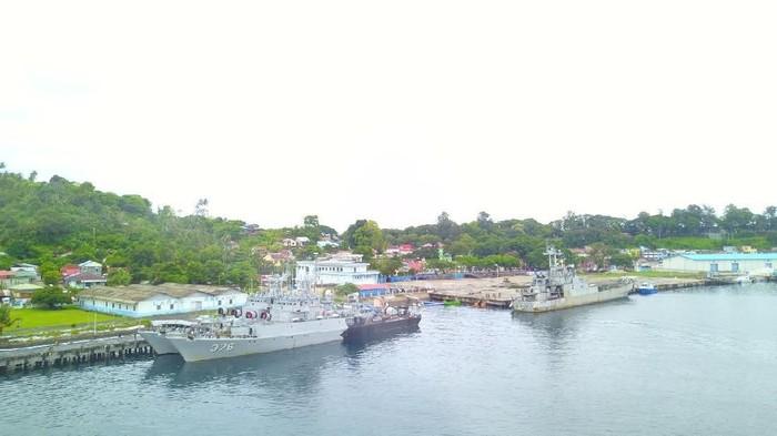 Foto: Salah satu kapal perang RI yang patroli di perbatasan Aceh (dok. Lanal Sabang)