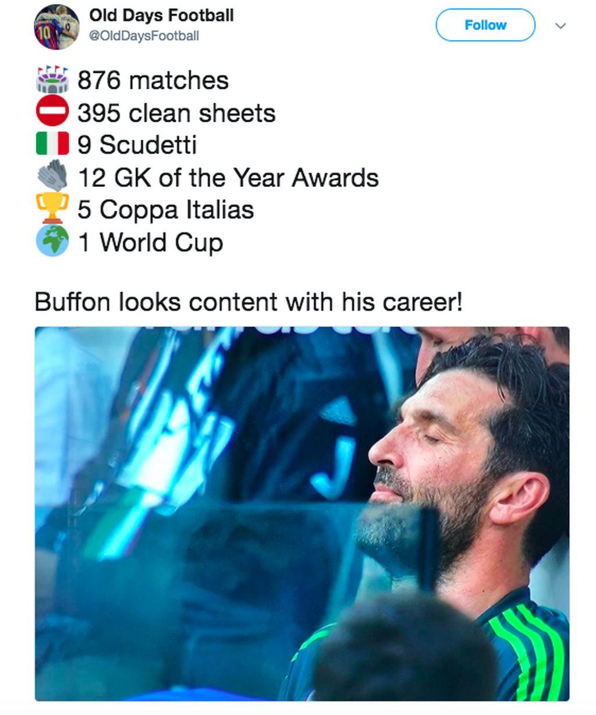 Perpisahan dengan Juventus dan sudah berada di penghujung karirnya, Buffon boleh berbangga dengan semua prestasi luar biasa yang dicapainya. Foto: istimewa