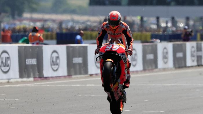 Marc Marquez memimpin klasemen MotoGP 2018 (Gonzalo Fuentes/Reuters)