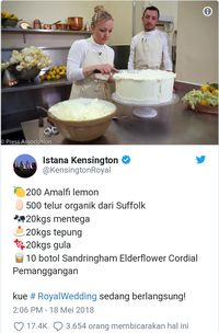 Catat! Ini Dia Resep Lemon Elderflower Cake di Royal Wedding