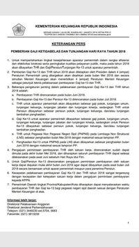 Beredar Dokumen Hoax Pencairan THR dan Gaji Ke-13 PNS