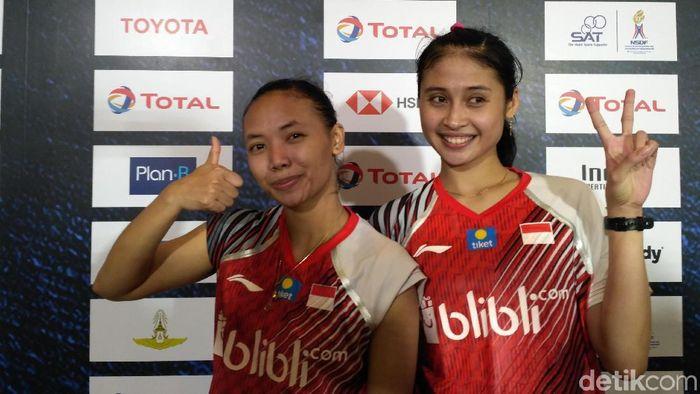 Della/Rizki memastikan kemenangan Indonesia atas Malaysia di Piala Uber 2018 (Foto: Okdwitya Karina Sari)