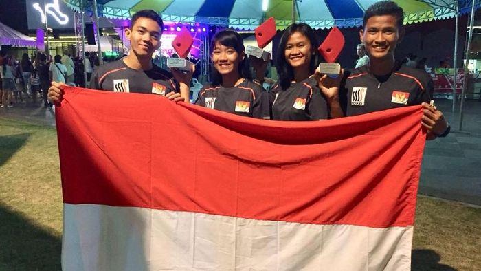 Atlet-atlet panjat tebing Indonesia meraih dua medali emas di Filipina (Foto: dok: Biro Humas PP FPTI)