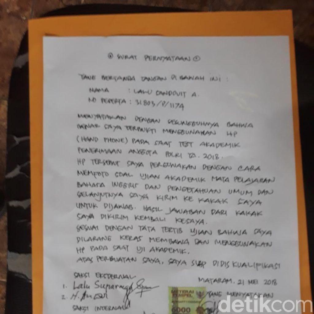 Calon Bintara Polri dari NTB Curang, As SDM: Didiskualifikasi