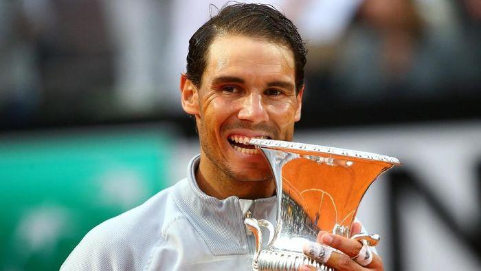 Rafael Nadal mengalahkan Alexander Zverev untuk menjuarai Italia Terbuka (Foto: Tony Gentile/Reuters)