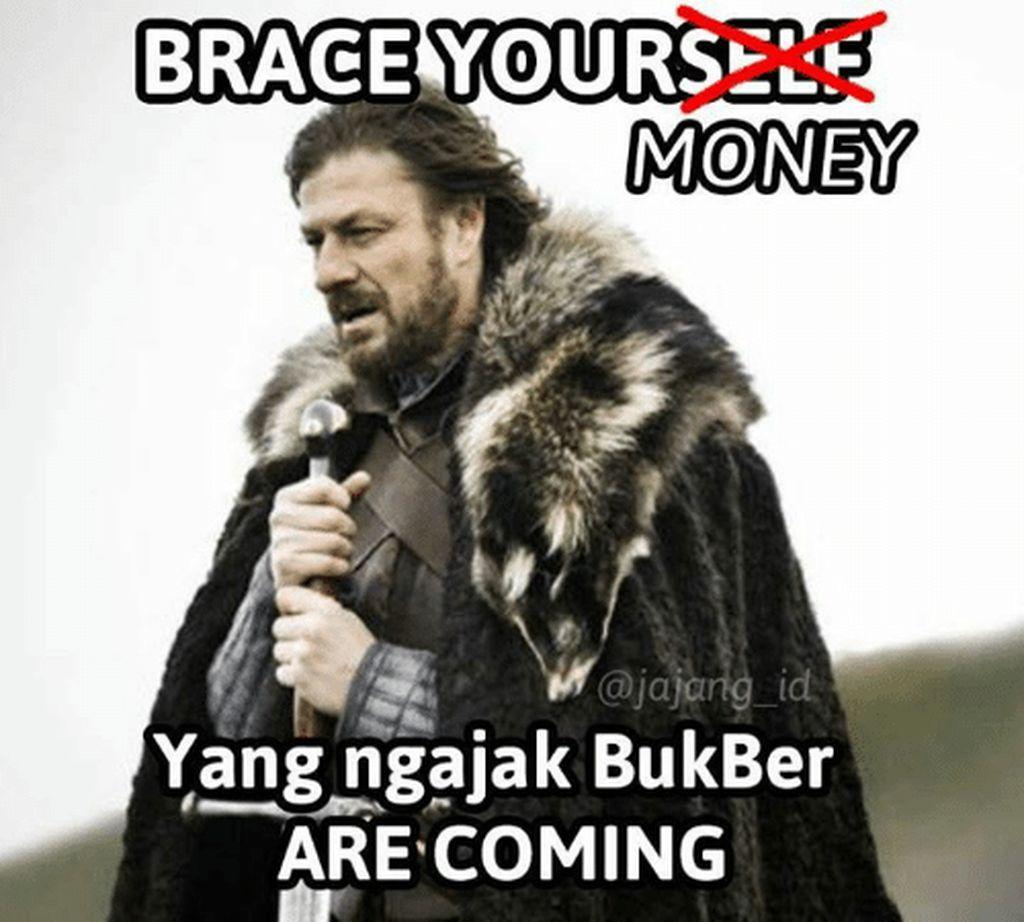 Ayo siapin uangnya, undangan bukber bakal berdatangan. (Foto: Internet)