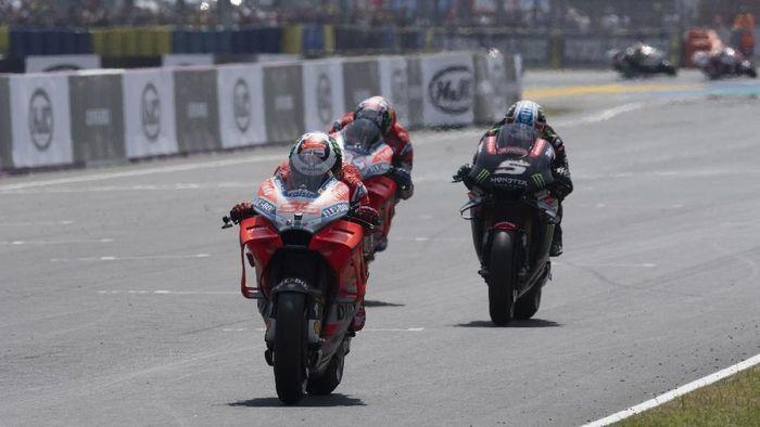 Jorge Lorenzo finis di posisi enam pada MotoGP Prancis. (Foto: Mirco Lazzari gp/Getty Images)
