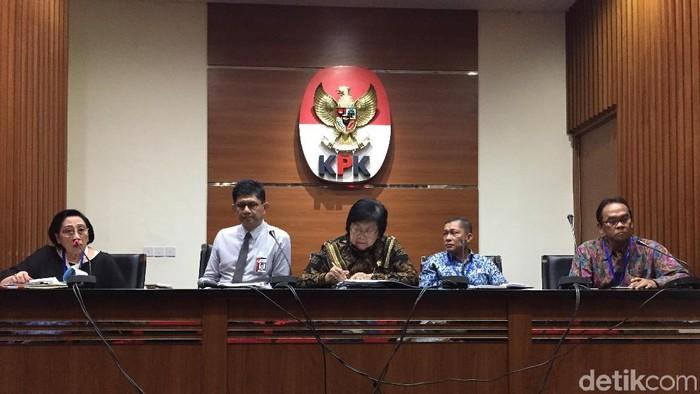 Konferensi pers di KPK (Nur Indah Fatmawati/detikcom)
