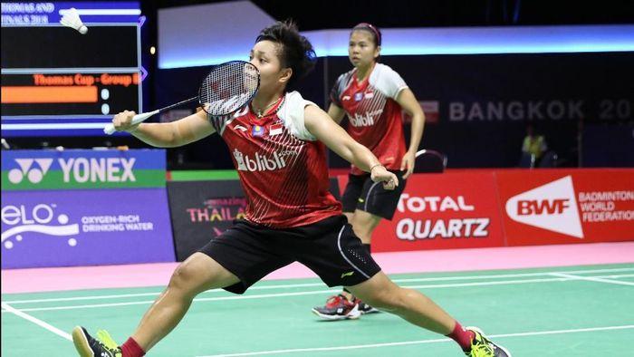 Greysia/Apriyani merebut poin pertama untuk Indonesia saat melawan Malaysia (Foto: dok: Tim Humas dan Media PP PBSI)