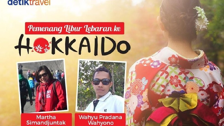Foto: Martha dan Wahyu, pemenang libur Lebaran ke Hokkaido (detikTravel)